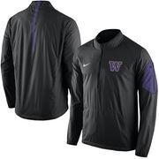 Men's Nike Black Washington Huskies 2015 Football Coaches Sideline Half-Zip Wind Jacket