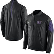 Men's Nike Black Washington Huskies 2015 Football Coaches Sideline Half-Zip Wind Jacket