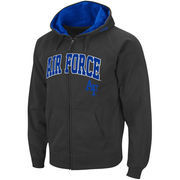 Men's Stadium Athletic Charcoal Air Force Falcons Arch & Logo Full Zip Hoodie