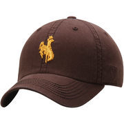 Men's Top of the World Brown Wyoming Cowboys Solid Crew Adjustable Hat