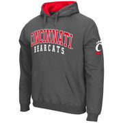 Men's Stadium Athletic Charcoal Cincinnati Bearcats Double Arches Pullover Hoodie