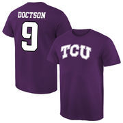 Men's Josh Doctson Purple TCU Horned Frogs Name & Number T-Shirt