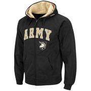 Men's Black Army Black Knights Arch & Logo Full-Zip Hoodie