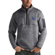 Men's Antigua Heathered Charcoal Air Force Falcons Fortune 1/2-Zip Pullover Sweater