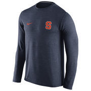 Men's Nike Heathered Navy Syracuse Orange Touch Performance Long Sleeve T-Shirt