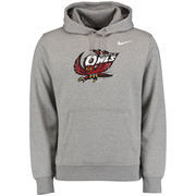 Men's Nike Heather Gray Temple Owls Big Logo Fleece Hoodie