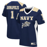Women's Colosseum #1 Navy Navy Midshipmen Football Jersey
