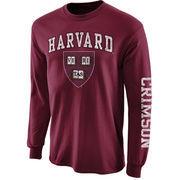 Mens Harvard Crimson Crimson Big Arch N' Logo Love Sleeve T-Shirt