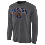 Men's Charcoal Auburn Tigers Campus Long Sleeve T-Shirt