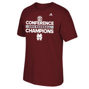 Men's adidas Maroon Mississippi State Bulldogs 2016 SEC Baseball Regular Season Conference Champions T-Shirt