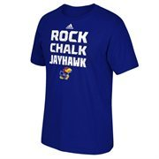 Men's adidas Royal Blue Kansas Jayhawks 2015 Sideline Glory T-Shirt