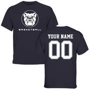 Men's Navy Butler Bulldogs Personalized Basketball T-Shirt