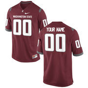 Nike Mens Washington State Cougars Custom Replica Football Jersey - Crimson
