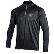 Men's Under Armour Black Vanderbilt Commodores 1/4 Zip Performance Top