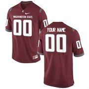 Nike Mens Washington State Cougars Custom Replica Football Jersey - Crimson