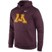 Men's Nike Maroon Minnesota Golden Gophers Practice Performance Hoodie