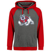 Men's Ash/Red Fresno State Bulldogs Classic Primary Pullover Hoodie