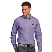 Men's Antigua Purple East Carolina Pirates Associate Woven Long Sleeve Button-Down Shirt