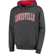 Men's Colosseum Charcoal Louisville Cardinals Arch Pullover Hoodie
