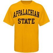Mens Appalachian State Mountaineers Gold Arch T-Shirt