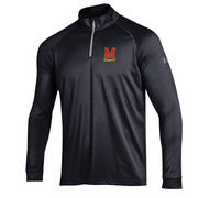 Men's Under Armour Black Maryland Terrapins 1/4 Zip Performance Top
