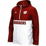 Men's adidas Red Wisconsin Badgers 2015 Sideline Shock Energy 1/4 Zip Jacket