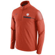 Men's Nike Heathered Orange Clemson Tigers 2016 Elite Coaches Dri-FIT 1/2 Zip Jacket