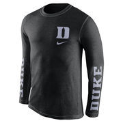 Men's Nike Black Duke Blue Devils Tri-Fresh Long Sleeve T-Shirt