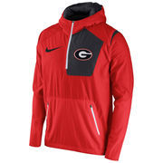 Men's Nike Red Georgia Bulldogs 2016 Sideline Vapor Fly Rush Half-Zip Pullover Jacket