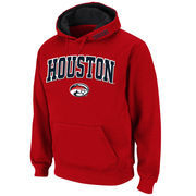 Men's Stadium Athletic Red Houston Cougars Arch & Logo Pullover Hoodie