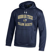 Men's Under Armour Navy Georgia Tech Yellow Jackets MVP Logo Pullover Hoodie