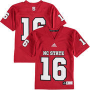 Youth adidas #16 Red NC State Wolfpack Replica Football Jersey