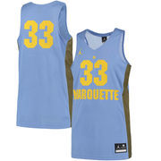 Men's Nike #33 Light Blue Marquette Golden Eagles Replica Basketball Jersey
