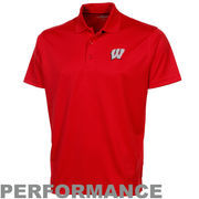 Wisconsin Badgers Omega Solid Mesh Tech Performance Polo - Cardinal