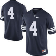 No. 4 BYU Cougars Nike Replica Football Jersey - Navy Blue