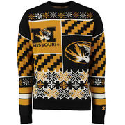 Unisex Klew Black Missouri Tigers Thematic Ugly Sweater