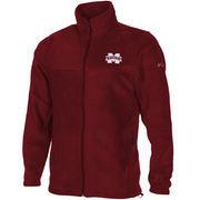 Men's Columbia Maroon Mississippi State Bulldogs Flanker Full Zip Fleece Jacket