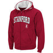 Men's Stadium Athletic Cardinal Stanford Cardinal Arch & Logo Full Zip Hoodie
