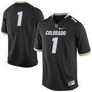 Men's Nike Black Colorado Buffaloes No. 1 Replica Football Jersey