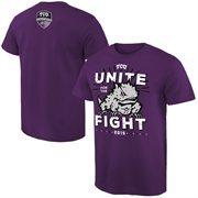Men's  Purple TCU Horned Frogs Unite For The Fight T-Shirt