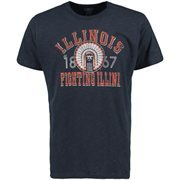 Men's '47 Brand Navy Blue Illinois Fighting Illini Vintage Scrum T-Shirt