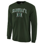 Men's Fanatics Branded Green Hawaii Warriors Campus Long Sleeve T-Shirt