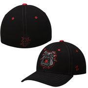 Mens Fresno State Bulldogs Zephyr Black Basic Element Flex Hat