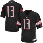 Men's adidas #13 Black Louisville Cardinals Event Replica Jersey