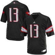 Men's adidas #13 Black Louisville Cardinals Event Replica Jersey