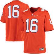Men's Nike Orange Clemson Tigers #16 Game Football Jersey