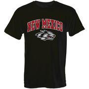 Mens Black New Mexico Lobos Arch Over Logo T-Shirt