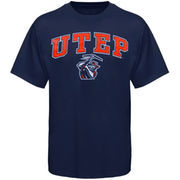 Mens Navy Blue UTEP Miners Arch Over Logo T-Shirt