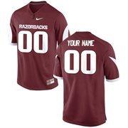 Nike Mens Arkansas Razorbacks Custom Replica Football Jersey - Cardinal