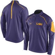 Men's Nike Purple LSU Tigers 2015 Coaches Sideline Alpha Fly Rush 1/4 Zip Performance Jacket